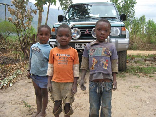 Kids loved the 4x4 Malawi